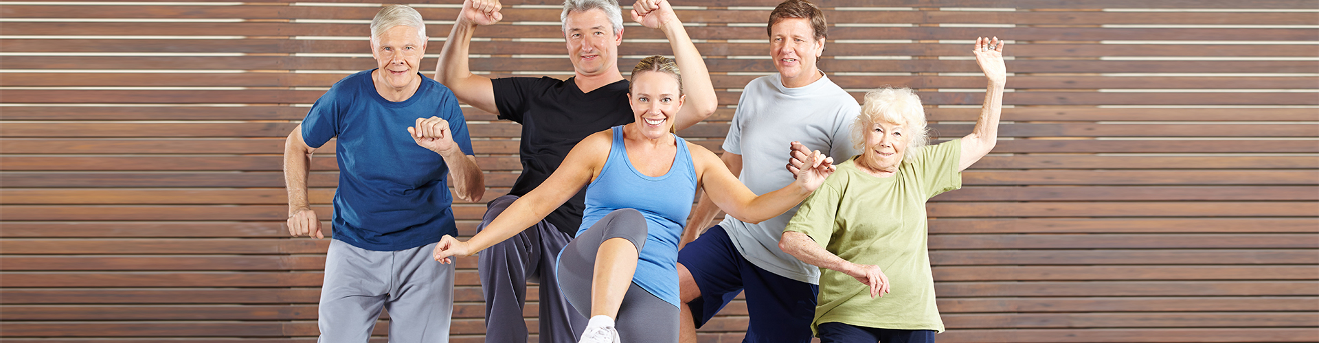 adults and elder people doing exercise